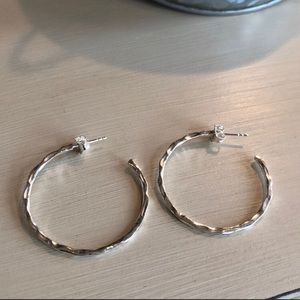 New Silpada Hammered Hoops